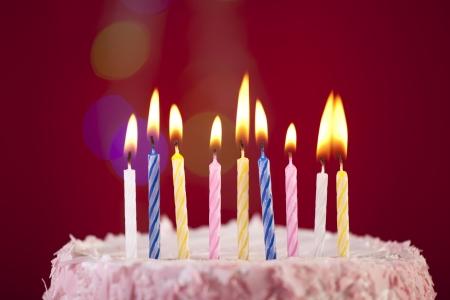 tortas de cumplea�os: torta de cumplea�os Foto de archivo