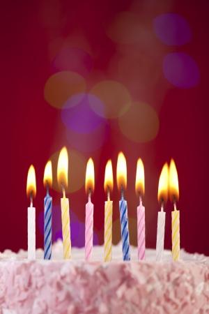 pasteles de cumpleaños: torta de cumpleaños Foto de archivo
