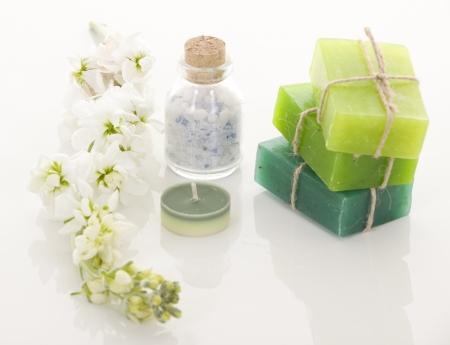 Handmade Soap closeup Spa products
