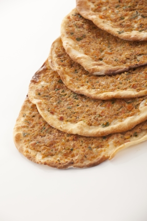 Turkish style Minced lahmacun photo