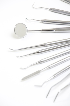 Set of metal medical equipment tools for teeth dental care Stock Photo - 20003680