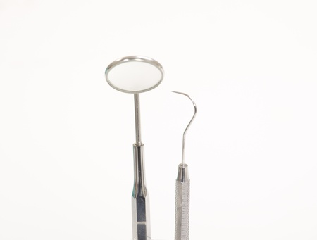 Set of metal medical equipment tools for teeth dental care Stock Photo - 20003627