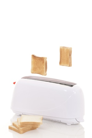 toaster: Toast popping out of a toaster