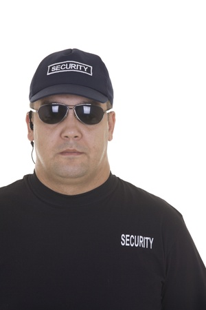 security guard isolated on white photo