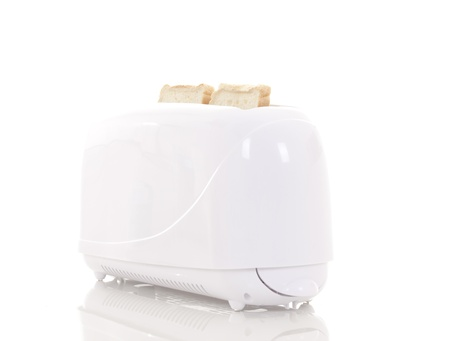 popping out: Toast popping out of a toaster