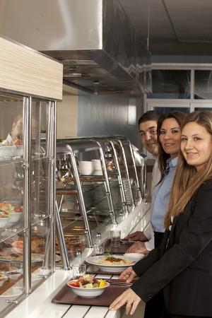 buffet self-service food display photo