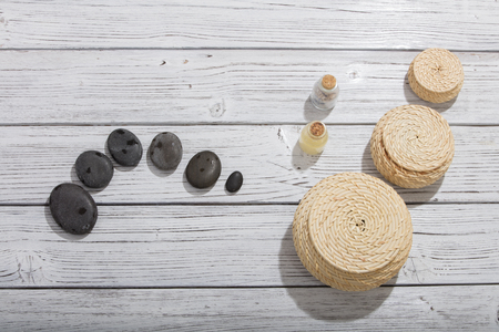 spa therapy: stones for oriental spa massage therapy