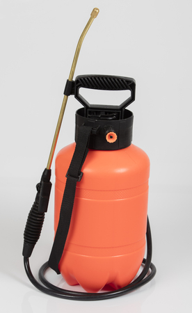 insecticide sprayers on isolated white background Stock Photo