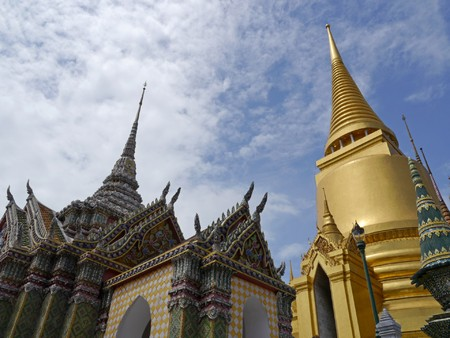 the grand palace: The grand palace , Big architecture of thailand people can visit and take photography. Stock Photo