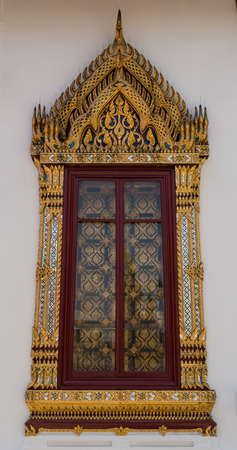 finely: Thai style artist temple window All people can visit and take photography