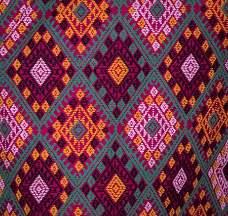 cloths: Colorful patterned of Thai native cloths.