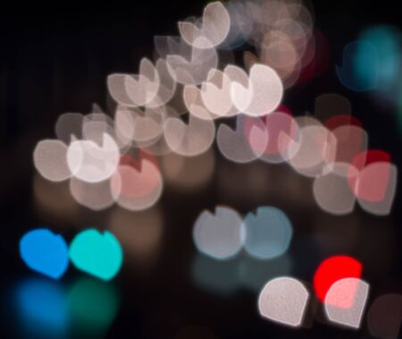 colorful heart: Abstract colorful heart bokeh background. Stock Photo