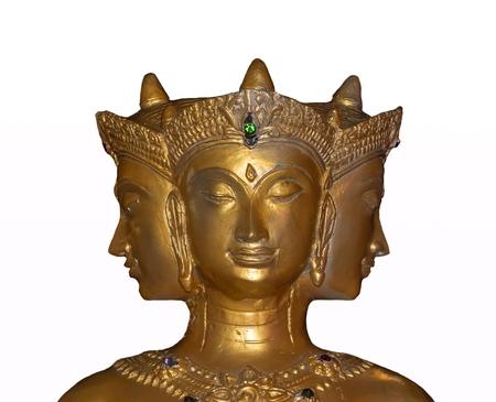 trimurti: Hindu god isolate on white background.