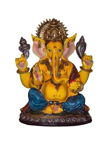 mano de dios: Dios hind� Ganesh sobre fondo blanco. Foto de archivo