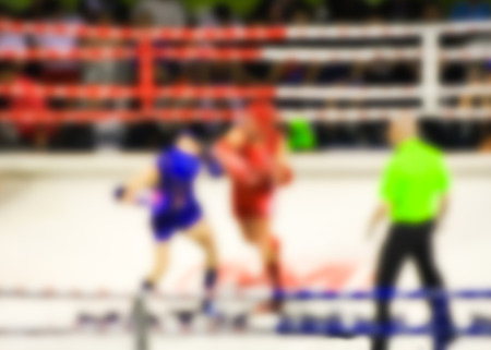 ringside: Abstract blur photo of boxing match. Stock Photo