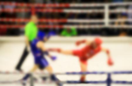 pugilist: Abstract blur photo Muaythai world champions tournament. Stock Photo