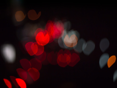 burnish: Abstract heart colorful bokeh  background.