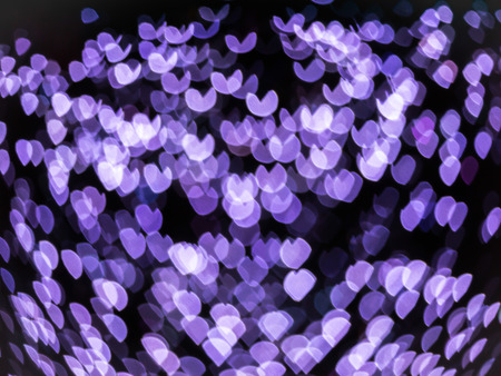 pretty s shiny: Abstract hearts bokeh light valentines day background. Stock Photo
