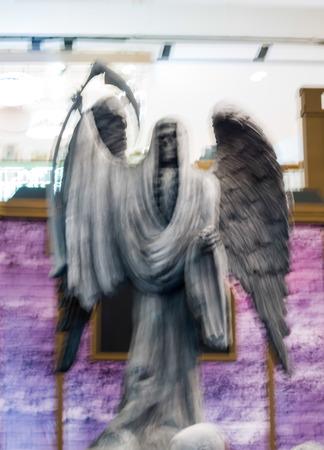 d�livrance: abstract blur dummy of devil. Banque d'images