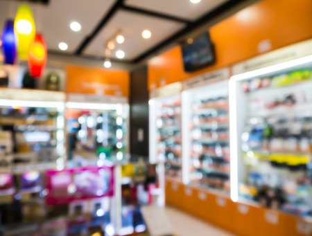 abstract blur digital camera shop.
