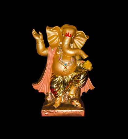 god ganesh: Hindu God Ganesh isolated on white background.