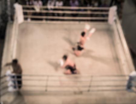 boxing match: Abstract blur original  muay-thai boxing match.