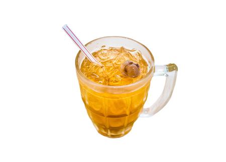 Longan juice isolated on white background.
