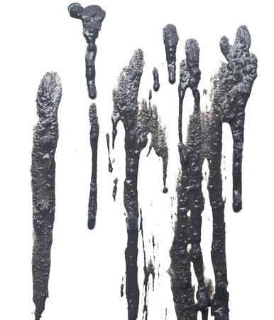 slob: mud isolated on white background