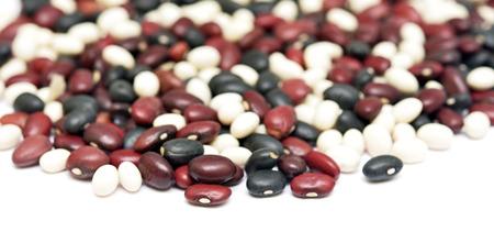 dryed: dryed beans isolated on white Stock Photo