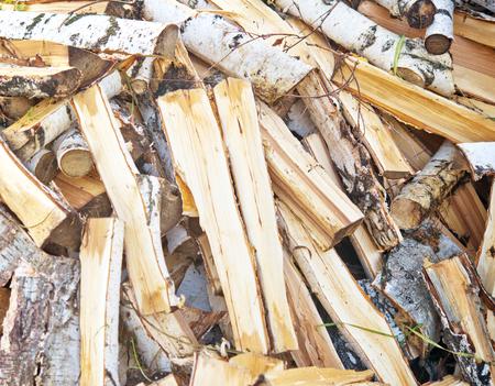 birch firewood photo