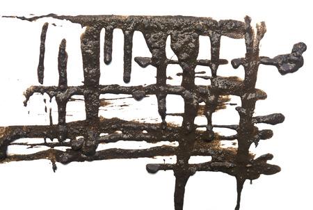 mud splatter: mud splatter isolated on white background