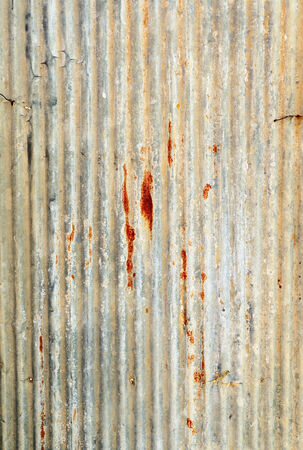 hangar: rusty corrugated iron metal texture