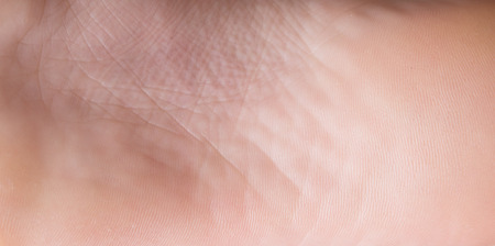 Close up of healthy foot sole background Stock Photo
