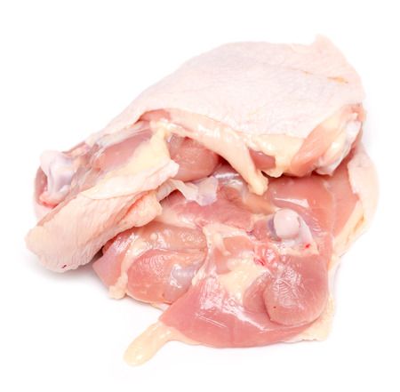 Chicken thigh isolated on white background Banque d'images