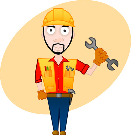 cartoon character series - workman Stock Vector - 6716933