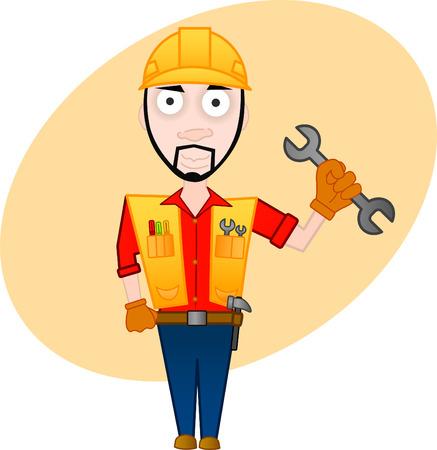 cartoon character series - workman Stock Vector - 6716933