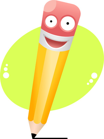 illustration of cartoon pencil Vector