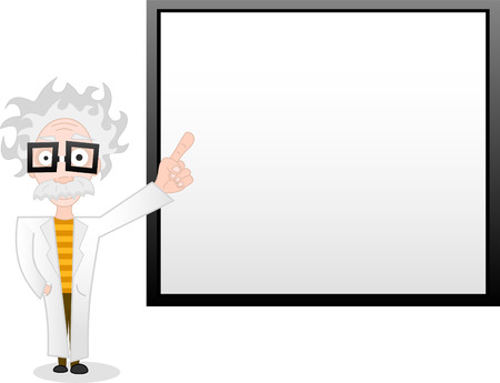 illustration of professor and whiteboard