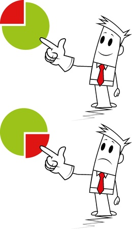 Square guy-Pie chart Stock Vector - 19728851
