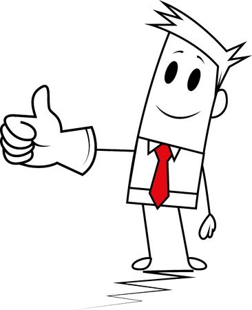 hand showing thumbs up: Square guy-Thumbs up