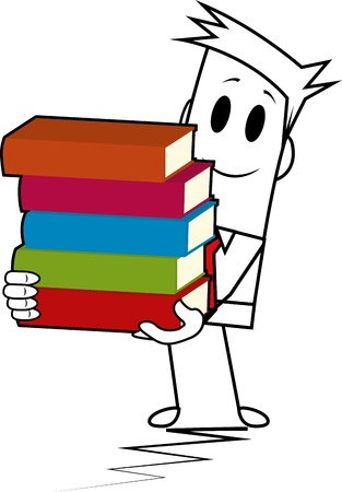libro caricatura: Square stack chico-book Vectores