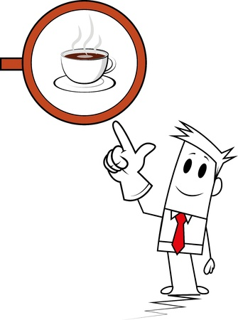 Square guy- coffee shop