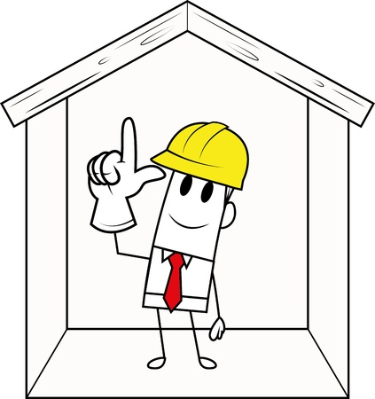 Square guy-construction Stock Vector - 19728811
