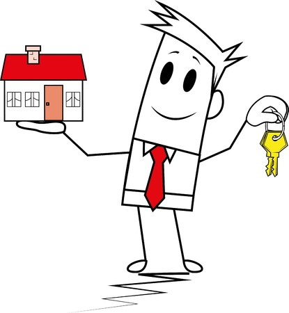 Square guy-mortgage Illustration