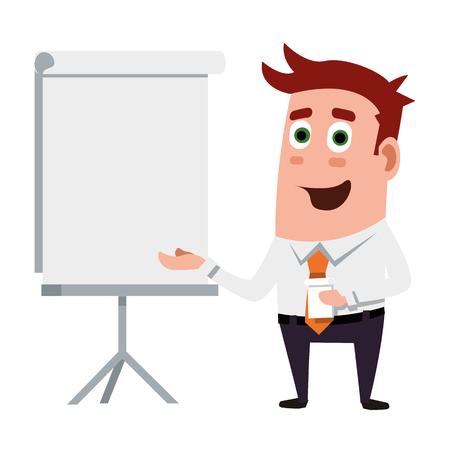 Presentation At Business Life Illustration