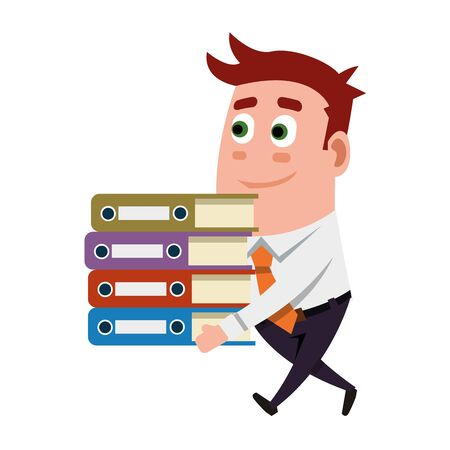 And Folders Office Worker Illustration