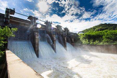 Dam Wasserabgabe Standard-Bild