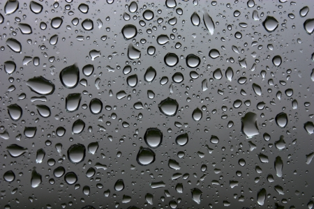 Silver water drops background