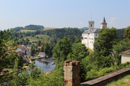 bohemia: Rozmberk castle in the Czech Republic