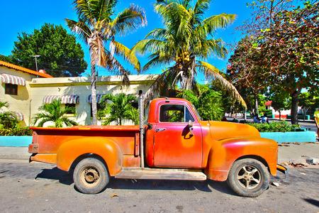 varadero: Old Cuban car in the street Varadero